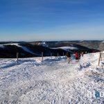 Raquetts à neige : vers le sommet des Vosges